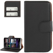 Flip Leather Case with Credit Card Slots & Holder for BlackBerry Aristo Z30 / A10 (Black)