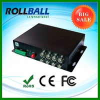 Sell in pair 4 lines bidi digital video 2 lines bidi audio 40km FC port fiber optic video audio to optical converter