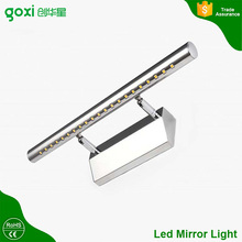 High quality SMD5050 5w stainless steel led mirror light lamp with touch sensor for bathroom
