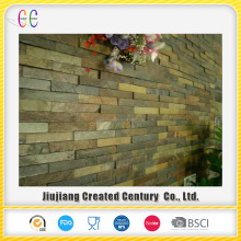 Chinese natural rusty slate veneer stacked wall tile for outdoor and indoor wall decoration