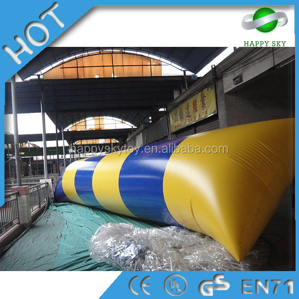 Colorful water blob,Cheap inflatable water trampoline,Inflatable water bounce for fly
