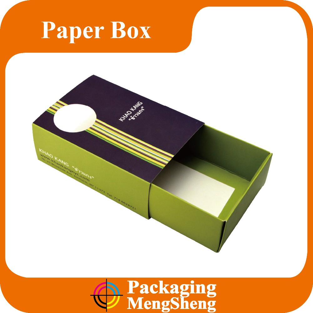 Cheap recycled drawer paper cake food box packaging