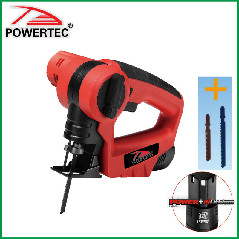 POWERTEC 12v multifunction Li-ion cordless electric saw
