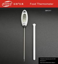 Non-polluting heating cooling food thermometer , metal probe type food thermometer