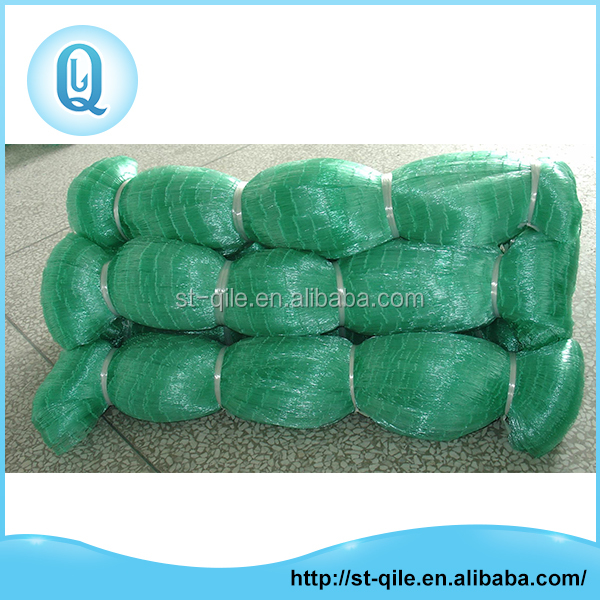 High strength shine fishing gill net green monofilament knoted nylon net