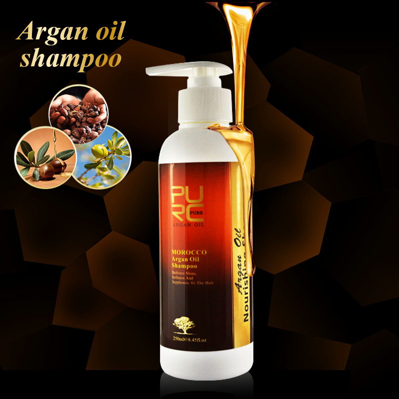 No sulfate easy rinse daily use argan oil shampoo professional deep care dry hair
