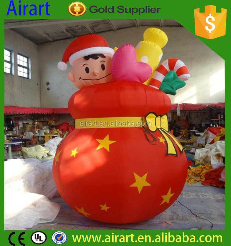 customized mini inflatable christmas balloon decoration