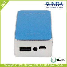 Sunda Phone accessories supplier ce and rohs led hand lamps mobile portable power bank