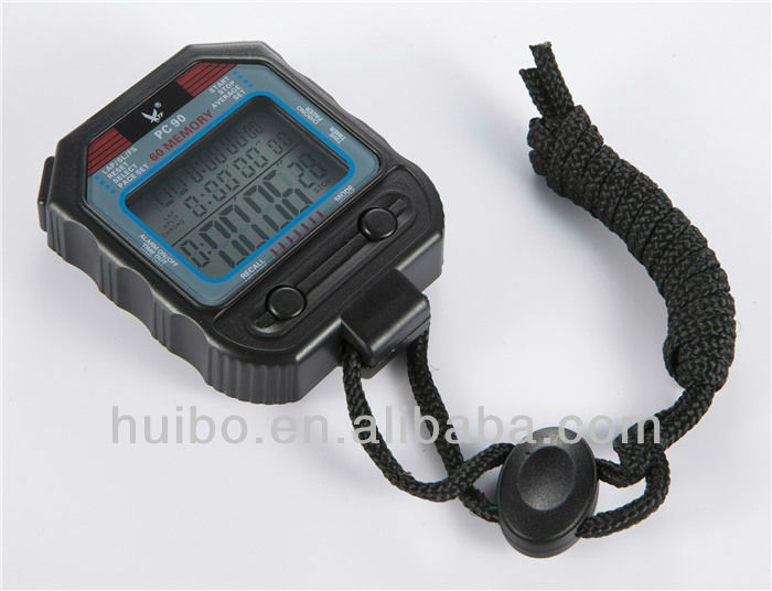 Light weight three rows show multifunction stopwatch