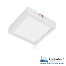 "Emergency Battery Backup 7"" flush mount retractable square LED ceiling light fixtures"