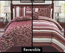 Luxury 7pcs Queen Reversible Jacquard Bed Comforter Sets With Cheap Price