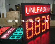 "aliexpress Alibaba 12"" inch 8.889 4 digits outdoor led gas station price signs for petrol stations"