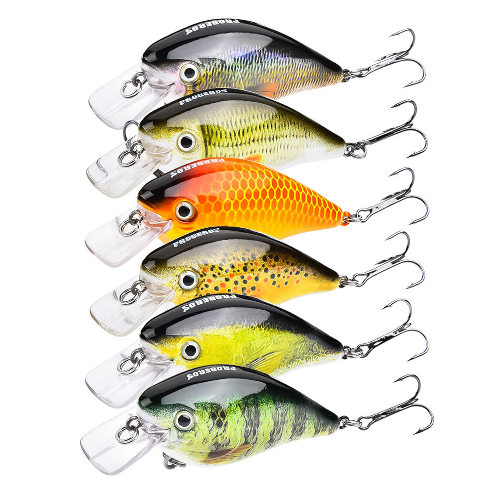 PROBEROS Crank <strong>Fishing</strong> Lures Wobbler Crankbaits For Striped Bass <strong>Fishing</strong> Tackle Hooks 3D Printing Artificial Hard Baits Pesca