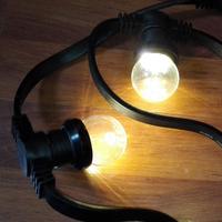 Commercial Grade Soft Warm White E27 Bulb Patio Globe String Light