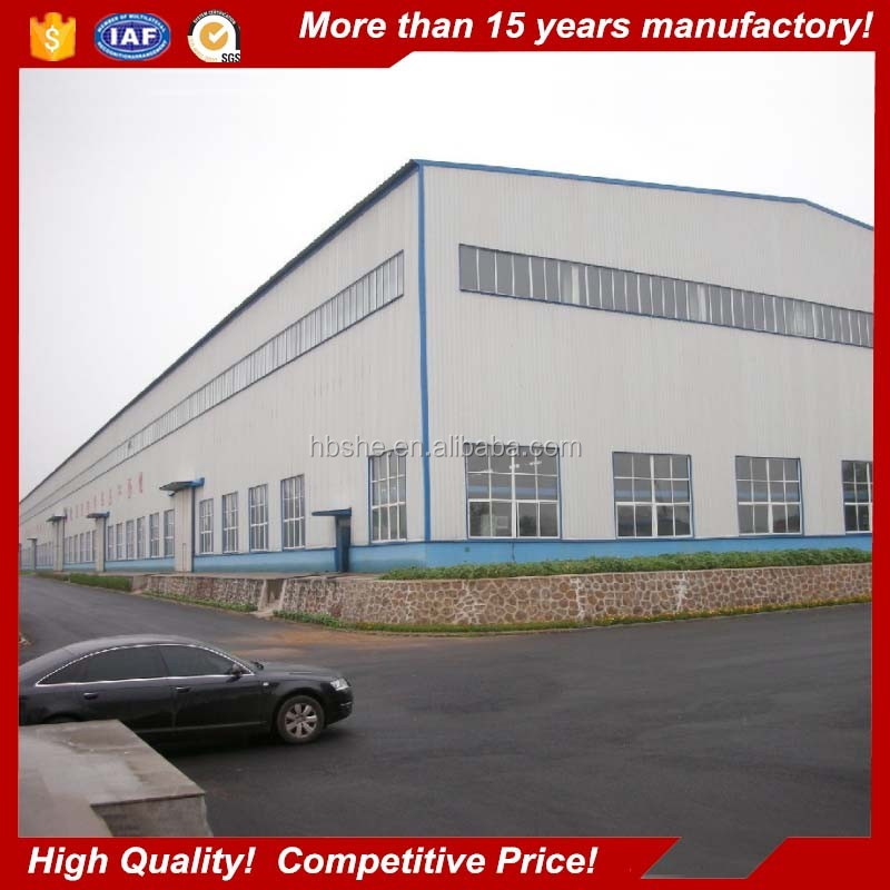 prefab ware house steel structures building factory shed design