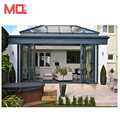 Heat insulation veranda doors design,thermal break aluminum veranda folding doors for villa and house