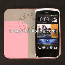Flip Folio Leather Case Cover Sleeve For HTC Desire 500
