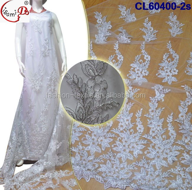 White embroidery french lace bulck lace fabric Uk hot sale cheap price african wedding dress french net lace