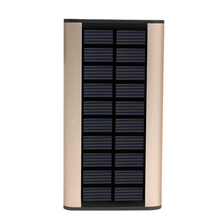 High Quality portable 10000mah solar power bank with led light