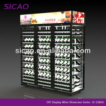 DIY Wine Commercial Refrigerator Showcase, Hotel Equipment wine coolers customize wine refrigerators for Chateau