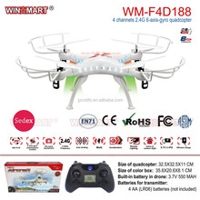 Popular rc drone 2.4Ghz 6-axis plastic radio control toy flying rc quadcopter