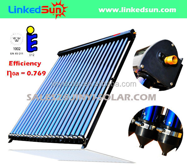 30 Tube Solar Keymark EN12975 Evacuated Tube Solar Collector for Hot Water Heating System
