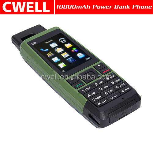 S18 power bank feature phone Quad band GSM triple sim card 4200mAh Big Battery mobile phone