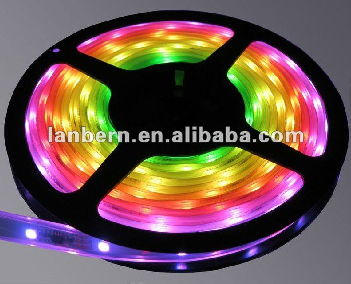 High brightness 12v/24v Flexible SMD5050 LED Strip light RGB 30leds/m IP33/IP65/IP68