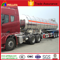 3 axles 40000 liters aluminum alloy chemical liquid tank trailer for sale
