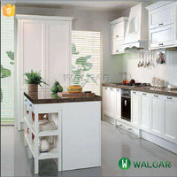 White Kitchen Cabinets with Baltic Brown Granite Countertops Made in China