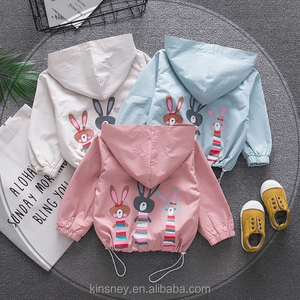 KS20696B 2018 Spring new design cartoon printed hooded jacket for baby
