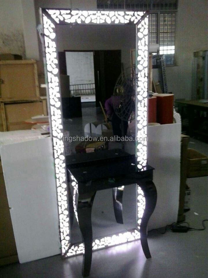 station with lights hairdressing mirrors stations hair salon mirror. Black Bedroom Furniture Sets. Home Design Ideas