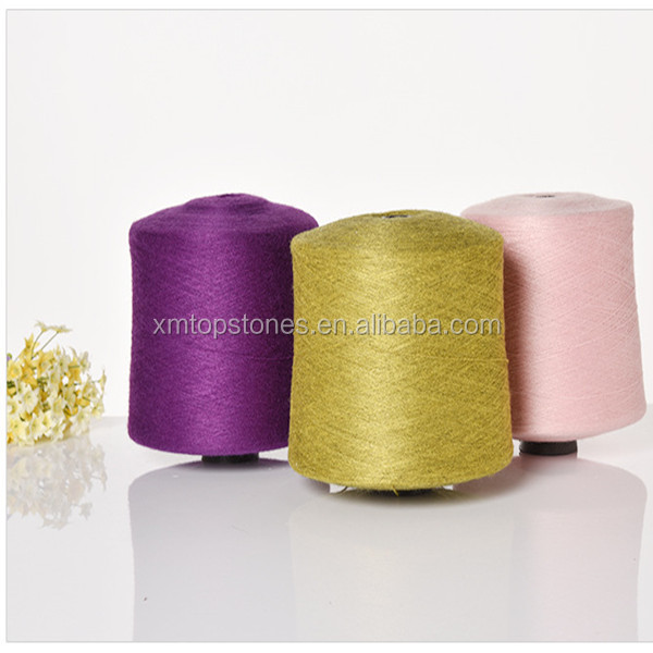 Dyed Anti Pilling PBT Core Spun Yarn for Knitting (Viscose/Nylon/PBT)