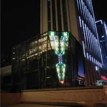 Best price flexible LED curtain soft transparent led video curtain wall display