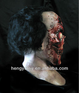 Eco-friendly Deluxe Quality Latex Accoutrements Blooding Zombie Mask for 2014 party