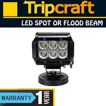 Super bright spot beam double row 18w led light bar,certified manufacturer with CE & RoHs