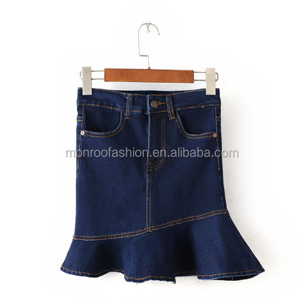 monroo high waist fashion denim dresses women skirts photos