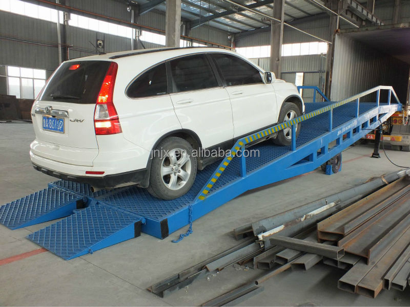 Adjustable loading car ramp/container unloading equipment