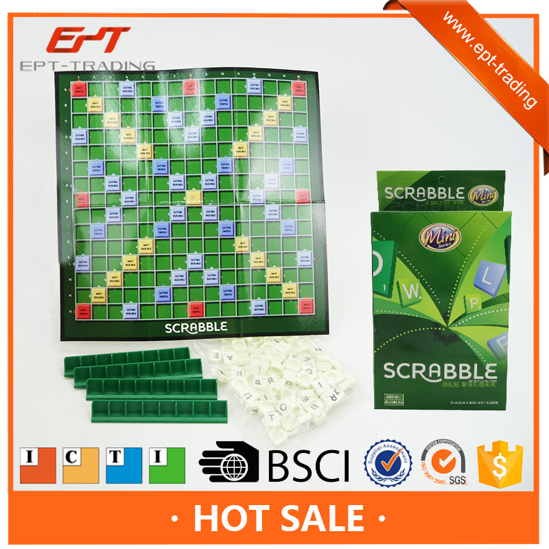 New item educational French scrabble letters table game for sale