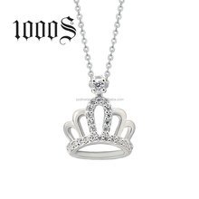 Silver Crown Pendant Rhodium Plated Jewelry,Rhodium Jewelry Wholesale