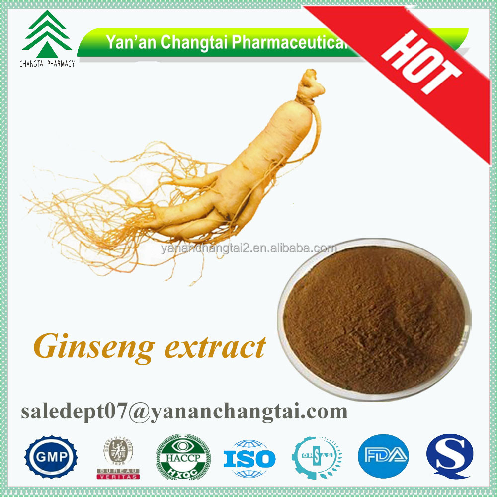 GMP certificate high quality 100% natural panax ginseng 20% ginsenosides