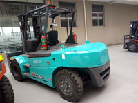 8 ton electric forklift with 80v 1200ah battery 1220fork length cutris controller