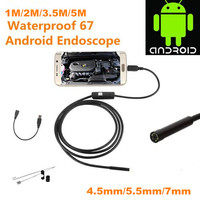 1/ 2/ 3.5/ 5M 6 LED Android OTG USB Endoscope Waterproof Snake Borescope Inspection Camera Tube Pipe Locator camera