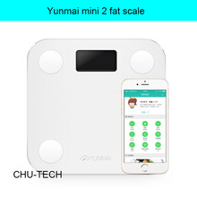 Yunmai mini 2 Scale digital body fat weighing scales support Android4.3 IOS7.0 Bluetooth 4.0