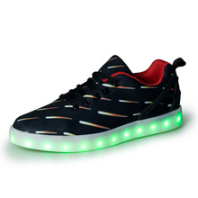 fashion lovers lighting shoes led shoes,new design black canvas adult led lighting shoes
