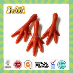 25g/piece Natural ingredients Wholesale Bulk Puppy Dental Clean Dog Treats Chews Chicken Foot Funny Shape Chew Stick