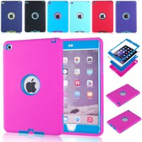 High Quality Armor Shockproof Case Cover For iPad 2 3 4 Full Body Protective Case
