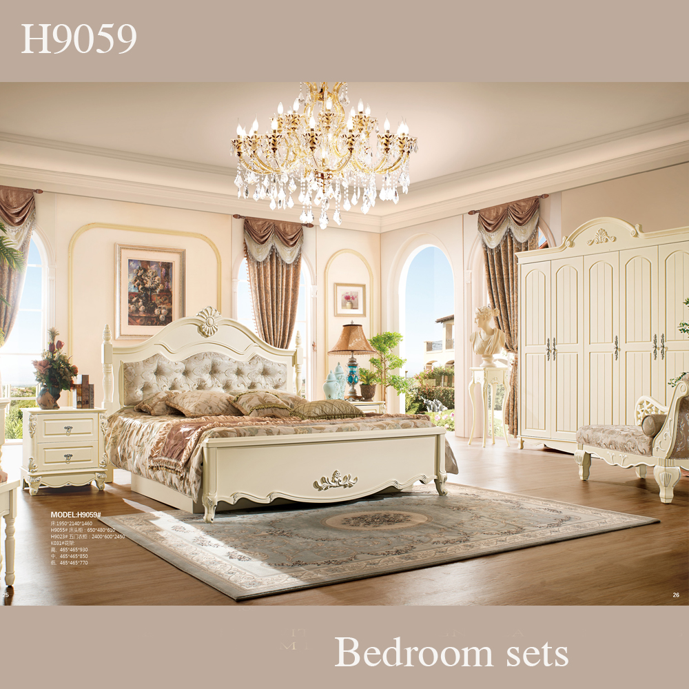 classic country style solid wood used bedroom furniture