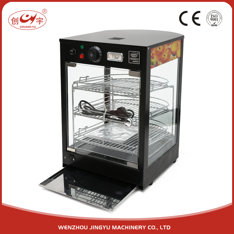 Chuangyu Alibaba Chinese Factory Glass 1P Mobile Electric Food Warmer Cabinet For Snacks