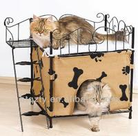 metal/iron durable/two layers cat bed
